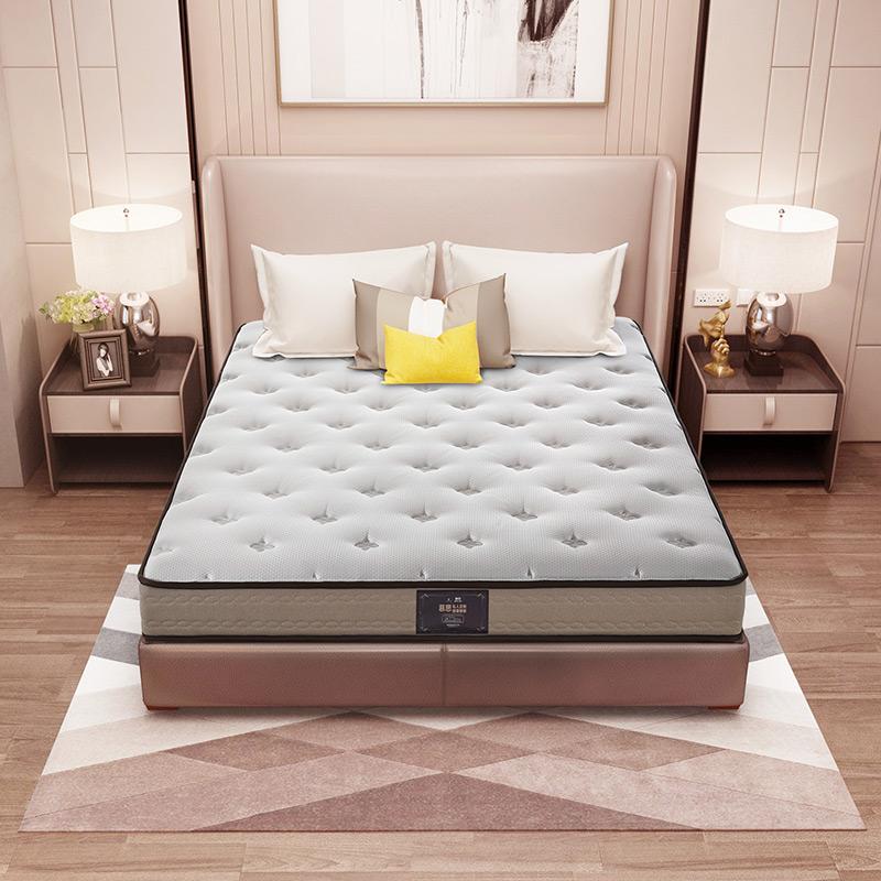 慕思筒弹簧床垫2cm乳胶席梦思1.8米 静芯